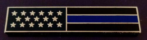 THIN BLUE LINE US Flag SILVER Uniform Award/Commendation Bar Pin police USA MADE