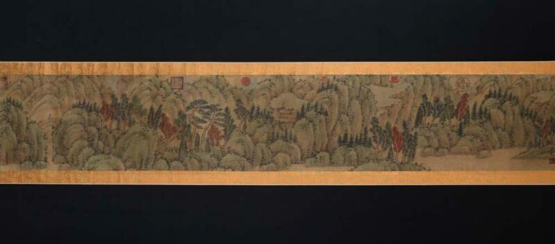 Fine Antique Chinese Hand-painting Scroll Ju Ran Marked-Landscape