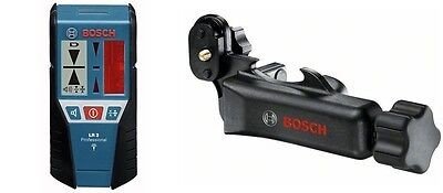 Bosch Lr2 Line Laser Detector Receiver And Adaptor For Pulse Lasers