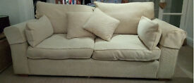 Large, 2-seater, fabric sofa, with 2 cushions - still in great condition