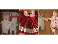 9 X BABY GIRLS 0-3 MONTHS, SARAH LOUISE (3-6M) ,KINDER COLLECTION , PRINCESS BELLE,NEXT,MOTHERCARE ,