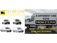 AFFORDABLE MAN AND VAN REMOVAL SERVICE FROM £15P/H, LOCAL, NATIONAL & EUROPE (YR NH)