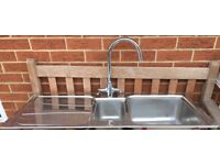 STAINLESS STEEL SINK REVISABLE WITH TAPS PLEASE VEIW ALL PHOTOS £38