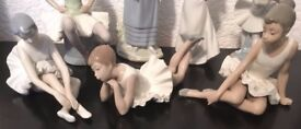 COLLECTION OF 3 LLADRO / NAO BALLERINA FIGURINES......(one damaged)