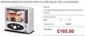 Kerona Paraffin Heater WKH110 (Cream) De Vielle PAS255003