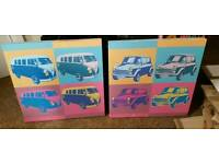 VW bus and mini canvas!