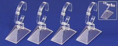 Lot Of 6 Acrylic Watch Display Stand Watch Stand Bangle Display Bracelet Stand