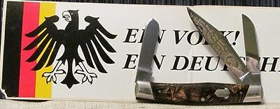 NEW/MINTy GERMANY FRANK BUSTER FIGHT'N ROOSTER #063/800 BRN SWIRL STOCKMAN KNIFE