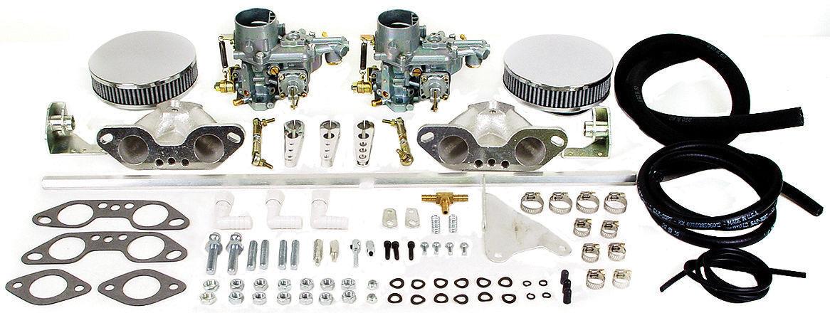 VW Volkswagen Dual Carburetor Kit Type 4 & Type 2 Weber 34 EPC copy EMPI 47-7412