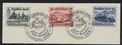 D.Reich Nr. 695-697 gestempelt/Briefstück mit SST NÜRBURGRING 21.5.39 (44071)