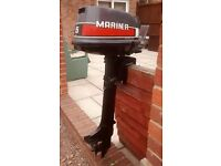 MARINER 5HP 2 STROKE OUTBOARD MOTOR BOAT ENGINE DINGY TENDER RIB INFLATIBLE BOAT