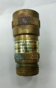 Marshal Brass Water Pressure Regulator