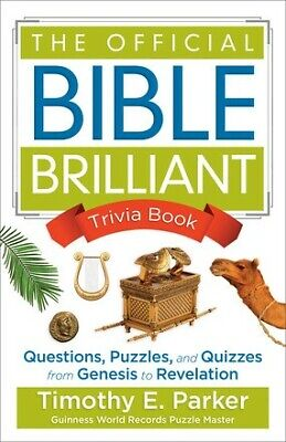 The Official Bible Brilliant Trivia Book: Questions, Puzzles, and Quizze .. NEW