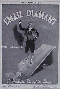 publicite email diamant dentifrice rouge john walton toreador torero de 1946 ad ebay. Black Bedroom Furniture Sets. Home Design Ideas
