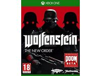 XBOX ONE - WOLFENSTEIN THE NEW ORDER - NEW - ONLY £5