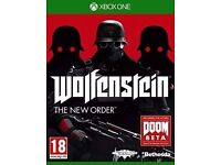 WOLFENSTEIN THE NEW ORDER FOR XBOX ONE - £5 ONLY - BRAND NEW !!