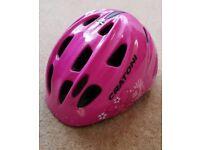 Girls pink Cratoni cycle helmet size 49 -53cm