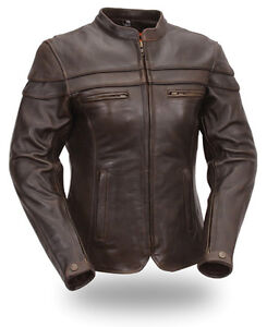 FIRST MANUFACTURING LADIES CROSSOVER Motorcycle Leather JACKET