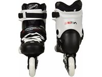 SEBA BLACK AND WHITE INLINE FR1- 80 SIZE 5