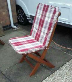 Oak Folding Chairs