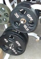 GPI Commercial Grade Olympic Weight Plates 2 x 45lbs, 2 x 35lbs