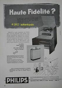 publicite de 1957 philips chaine haute fidelite ad pub vintage advert ebay. Black Bedroom Furniture Sets. Home Design Ideas