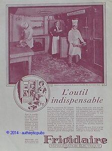 Frigidaire cuisine du restaurant chiquito a paris de 1929 french ad