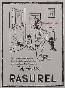 RASUREL SOUS VETEMENT APRES SKI PERE NOEL FOX TERRIER CHIEN DE 1946 AD