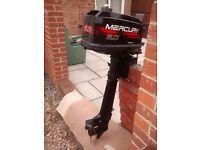 MERCURY / MARINER 5HP 2 STROKE LITTLE USE LOW HOURS VERY LIGHT OUTBOARD MOTOR BOAT ENGINE