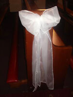 BEAUTIFUL SILK PEW BOWS FOR RENT OR PURCHASE