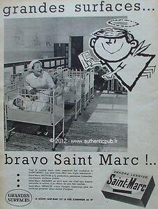 publicite cendre lessive saint marc maternite bebe ange 1960 french advert pub ebay. Black Bedroom Furniture Sets. Home Design Ideas