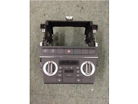 2004-2012 GENUINE AUDI A3 DOUBLE DIN CAGE CLIMATE CONTROL STEREO CARD HOLDER BUTTONS A3 S3 RS3 SLINE
