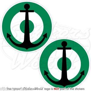 NIGERIA-Marine-Luftwaffe-NIGERIANISCHEN-Roundel-MOD-50mm-Sticker-Aufkleber-x4