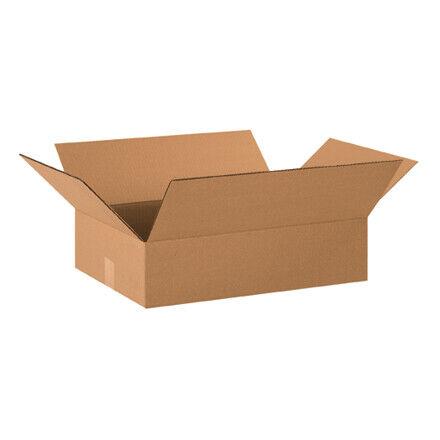 """20 x 14 x 4"""" Flat Corrugated Boxes - 25 Per Bundle"""