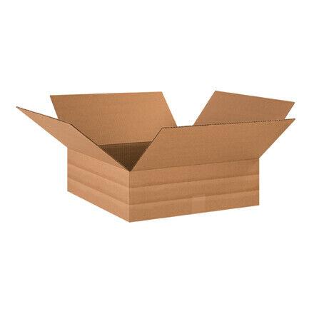 "18 x 18 x 6"" Multi-Depth Corrugated Boxes - 20 Per Bundle"