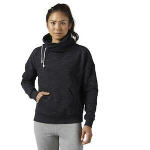 Reebok Women's Elements Marble Cowl Neck Sweatshirt