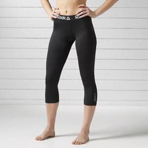 Reebok Women's Workout Ready Black Out Capri
