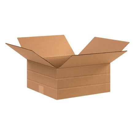 "12 1/2 x 12 1/2 x 6"" Multi-Depth Corrugated Boxes - 25 Per Bundle"