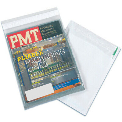 2.5 Mil Case - Packaging Supply 2.5 Mil Polyethylene Clear/White View Poly Mailers CASE OF 100