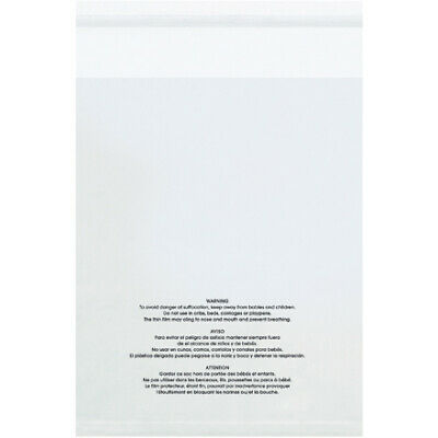 Resealable Poly Bag With Suffocation Warning18 X 24 Inch 100 Pack Clear 1.5 Mil
