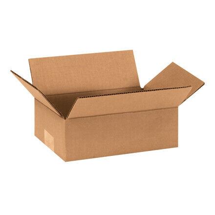 """10 x 6 x 3"""" Flat Corrugated Boxes - 25 Per Bundle"""