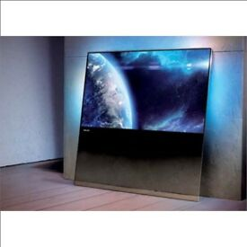 ULTRA SLIM SMART 55' LED PHILIPS PDL8908S FLOATING GLASS 1080P HD TV, AMBILIGHT