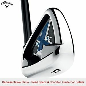 LEFT HANDED CALLAWAY GOLF X-20 IRON SETS 5-PW GRAPHITE REGULAR