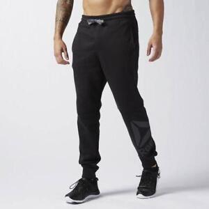 Reebok Men's Workout Ready Big Logo Cotton Pant