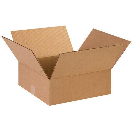 """14 x 14 x 5"""" Flat Corrugated Boxes - 25 Per Bundle"""