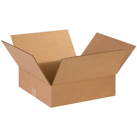"""14 x 14 x 4"""" Flat Corrugated Boxes - 25 Per Bundle"""