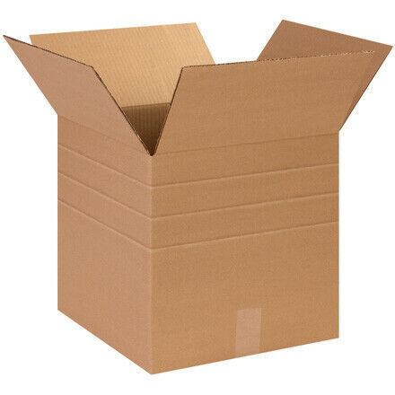 "14 x 14 x 14"" Multi-Depth Corrugated Boxes - 25 Per Bundle"