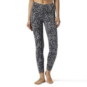 Reebok Women's High Rise Lux Bold Speckle Print Legging