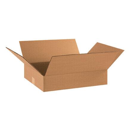 """18 x 14 x 4"""" Flat Corrugated Boxes - 25 Per Bundle"""