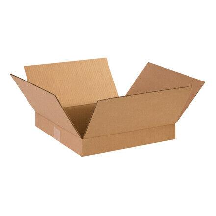 """14 x 14 x 2"""" Flat Corrugated Boxes - 25 Per Bundle"""